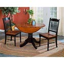 AAmerica British Isles Dropleaf Table and Chairs - Item Number: 6-10-0+2-65-0B