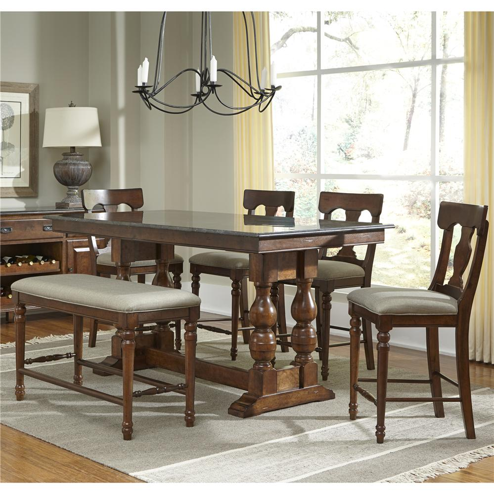 AAmerica Andover Park 5 Piece Counter Height Set - Item Number: ADV-AC-6-30-0+4-3-65-K