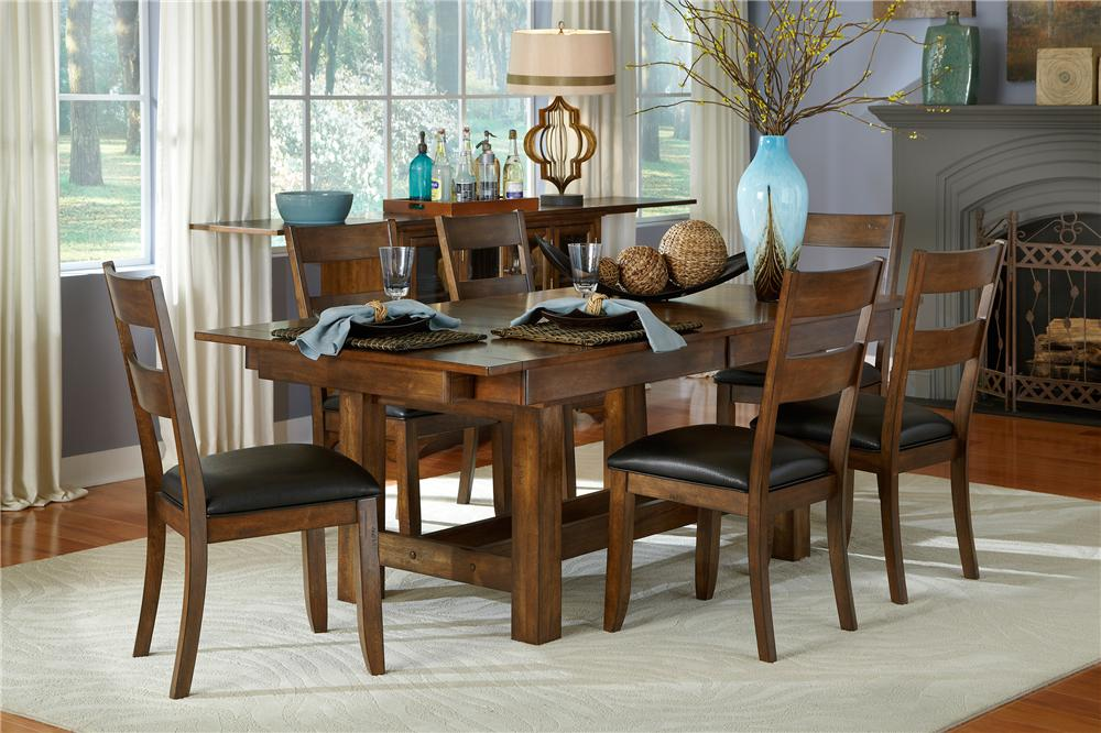 AAmerica Mariposa 5Pc Table and Chair Set - Item Number: MRP-RW-6-08-T/B-CHAIR