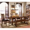 AAmerica Mesa Rustica 5Pc Dining Room - Item Number: MES-AM-6, MES-AM-2 & MES-AM-95