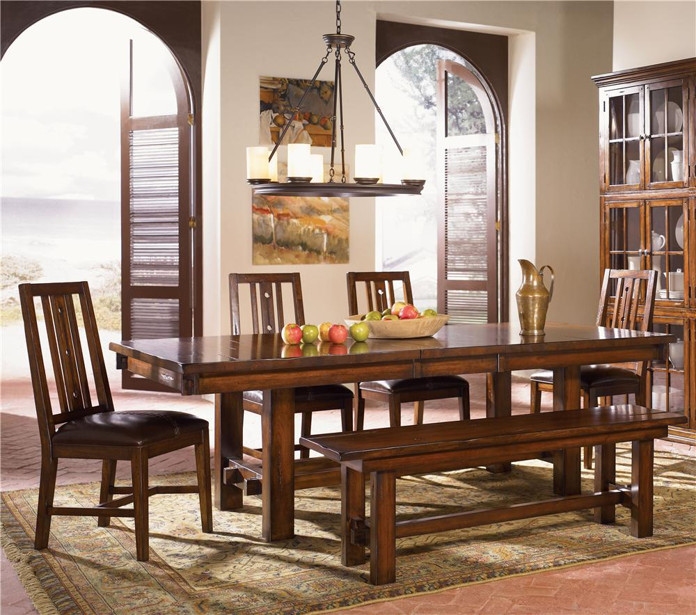 AAmerica Mesa Rustica Table & Chair Set - Item Number: MES-AM-6-35-0+4x2-65-0+2-95-K