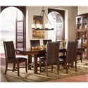 AAmerica Mesa Rustica Table & Chair Set - Item Number: MES-AM-6-35-0+6x2-69-0