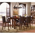 AAmerica Mesa Rustica 7Pc Counter Height Dinette - Item Number: MESA-AM-70 & 6-MES-AM-69