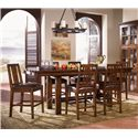 AAmerica Mesa Rustica 5Pc Counter Height Dinette - Item Number: MESA-AM-70 & MES-AM-65