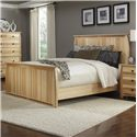 AAmerica Adamstown Queen Solid Hickory Panel Bed with Steam-Bent Headboard & Footboard - Bed Shown May Not Represent Size Indicated