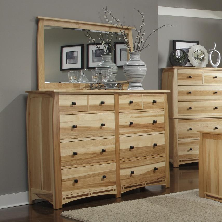 AAmerica Adamstown Dresser and Mirror - Item Number: ADA-NT-5-50-0+55-0