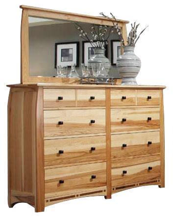 AAmerica Allentown Dresser and Mirror - Item Number: ADA-NT-5-50-0+55-0