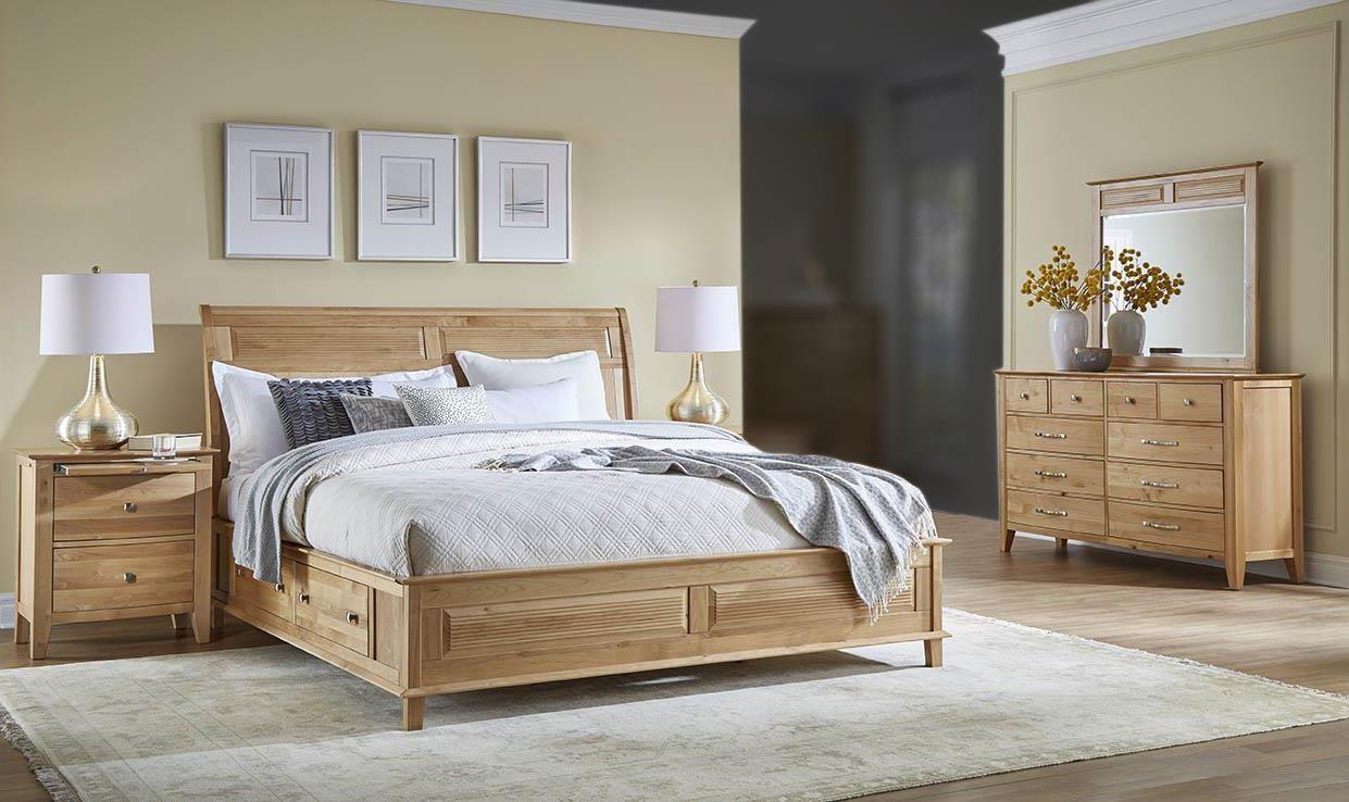 AAmerica Tucawilla 4PC King Storage Bedroom Set - Item Number: ADK-4PC-KSBR