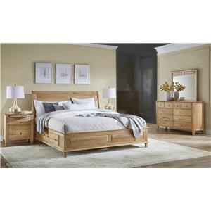 AAmerica Tucawilla 4PC Queen Storage Bedroom Set