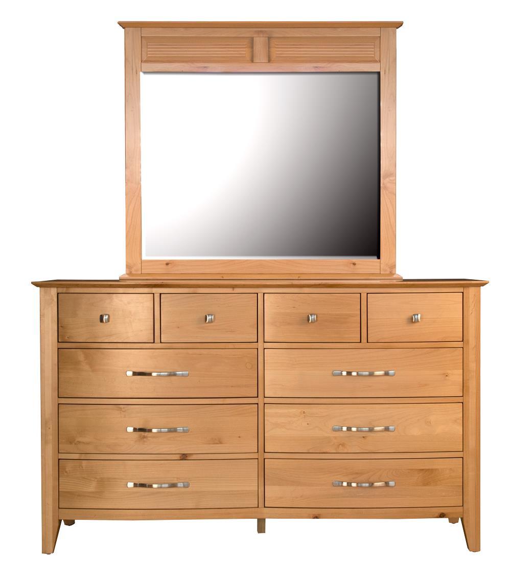 AAmerica Alderbrook Dresser & Mirror Set - Item Number: ADK-NT-5-50-0+ADK-NT-5-55-0