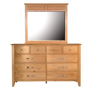AAmerica Alderbrook Dresser & Mirror Set