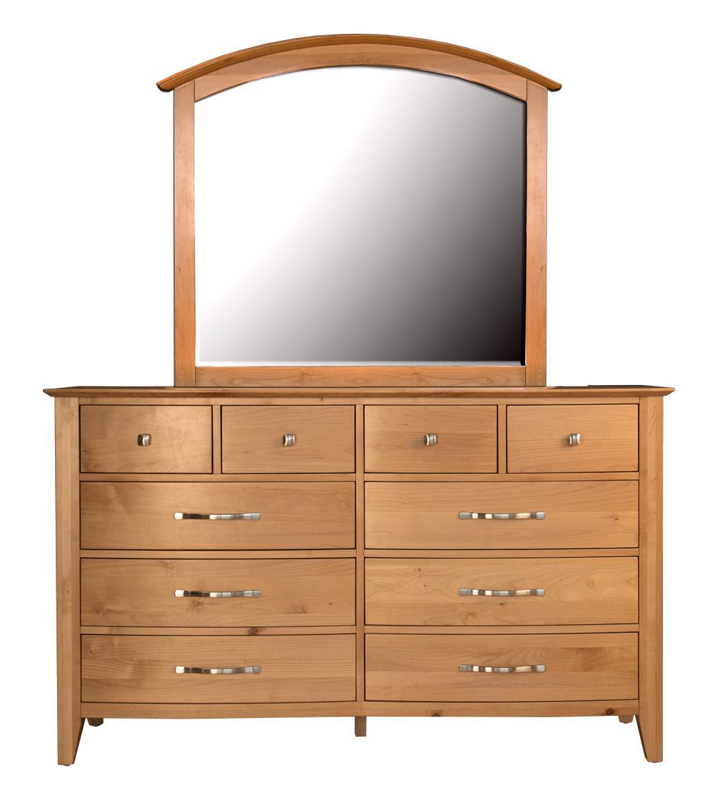 AAmerica Alderbrook Dresser & Mirror Set - Item Number: ADK-NT-5-50-0+ADK-NT-5-56-0