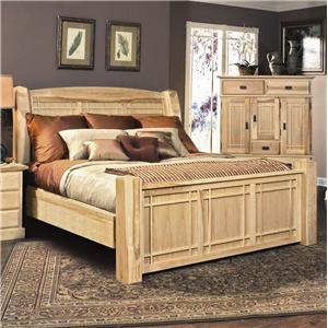 AAmerica Amish Highlands King Arch Panel Bed