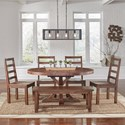 AAmerica Anacortes 6 Piece Dining Set - Item Number: ANA-SM-6-20-0+4x2-55-K+2-96-K