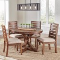 AAmerica Anacortes 5 Piece Dining Set - Item Number: ANA-SM-6-20-0+4xANA-SM-2-45-K