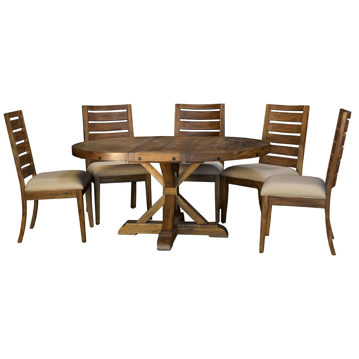 AAmerica Anacortes 6 Piece Dining Set - Item Number: ANA-SM-6-20-0+5xANA-SM-2-45-K