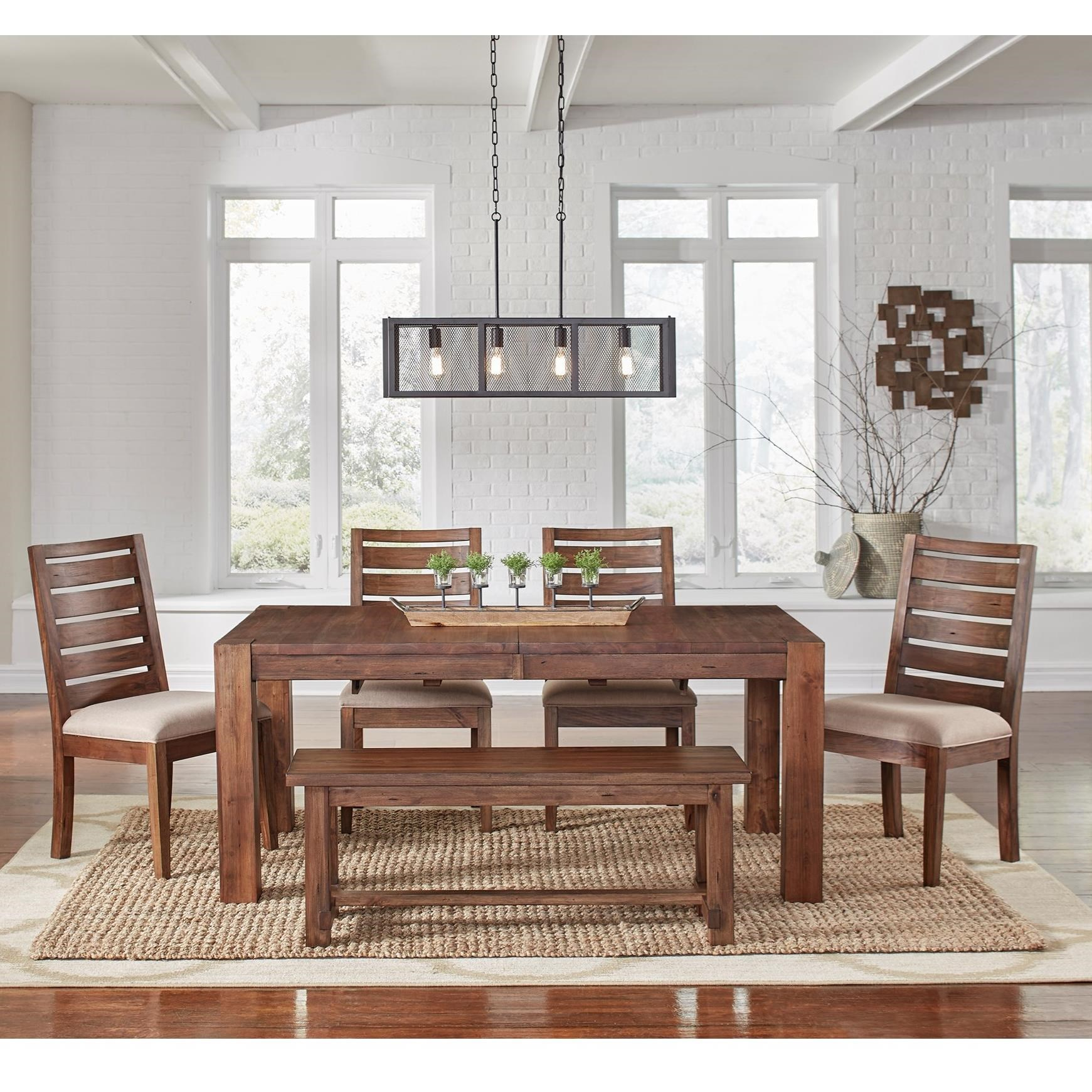 AAmerica Anacortes 6 Piece Dining Set - Item Number: ANA-SM-6-34-0+4x2-45-K+2-96-K