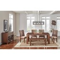 AAmerica Anacortes Rectangle Leg Dining Table with Leaf
