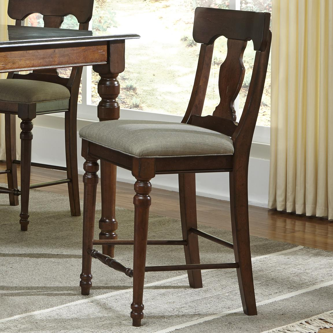 AAmerica Andover Park T-Back Stool - Item Number: ADV-AC-3-57-K