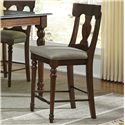 AAmerica Andover Park T-Back Upholstered Counter Stool