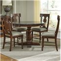 AAmerica Andover Park 5 Piece Dining Set - Item Number: ADV-AC-6-20-0+4x2-57-K