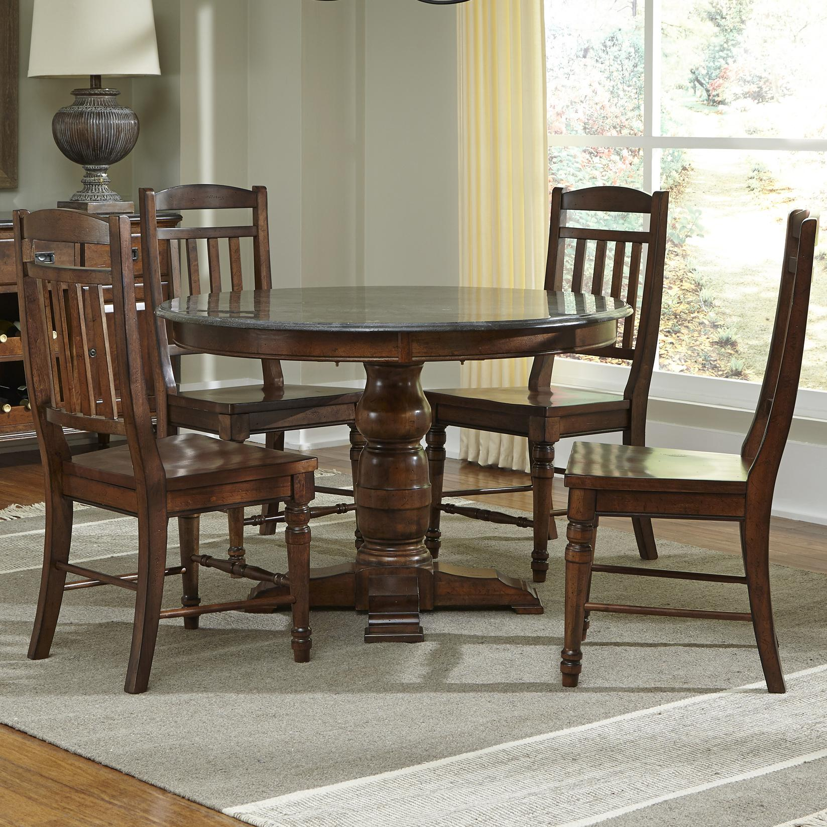 AAmerica Andover Park 5 Piece Dining Set - Item Number: ADV-AC-6-20-0+4x2-65-K