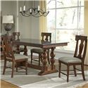 AAmerica Andover Park 5 Piece Dining Set - Item Number: ADV-AC-6-30-0+4x2-57-K