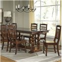 AAmerica Andover Park 7 Piece Trestle Table and Side Chair Dining Set