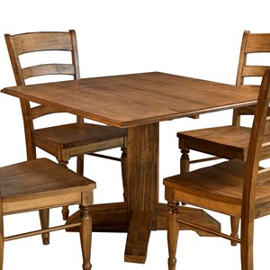 AAmerica Bennett Square Drop Leaf Table