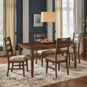 AAmerica Blue Mountain 5-Piece Table and Chair Set - Item Number: BLU-NB-6-07-0+4x2-55-K