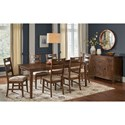 AAmerica Blue Mountain 7-Piece Table and Chair Set - Item Number: BLU-NB-6-07-0+6x2-55-K