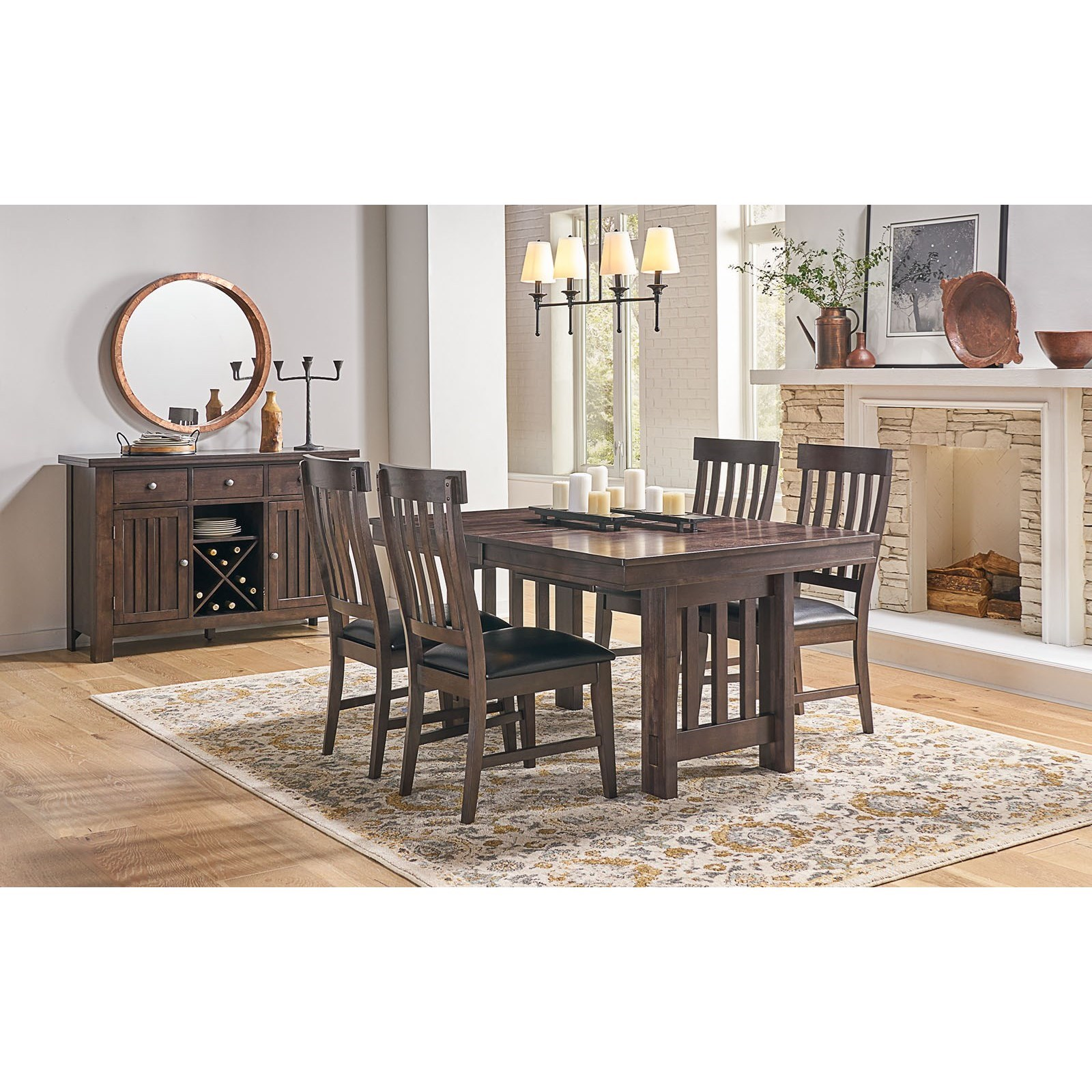 Bremerton 5-Piece Table and Chair Set by AAmerica at Zak's Home