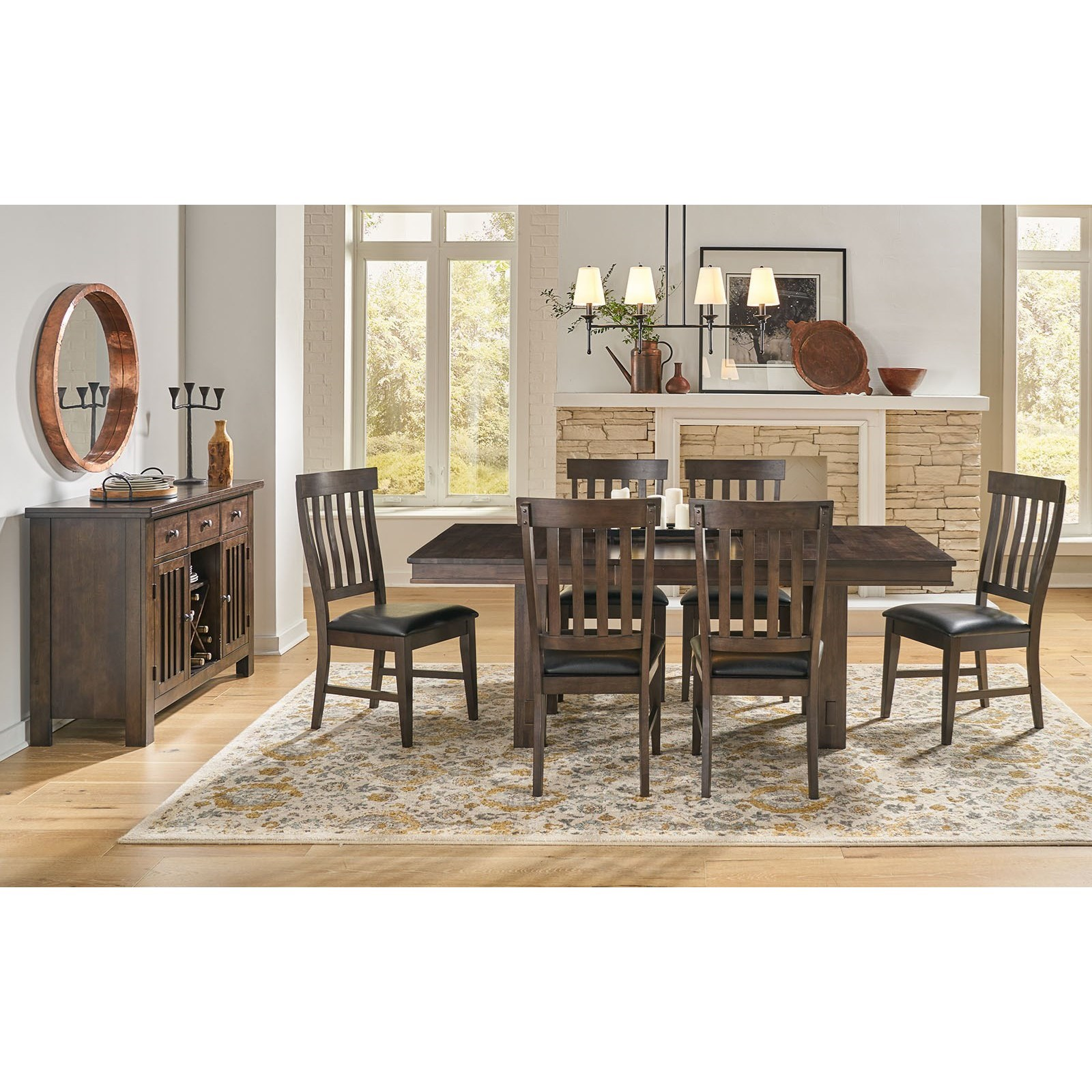 Bremerton 7-Piece Dining and Chair Set by AAmerica at Zak's Home