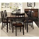 AAmerica Bristol Point Grid Back Side Chair - BTL-OE-2-63-K - Shown with Dining Table