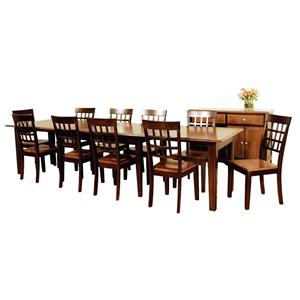AAmerica Bristol Point 11 Pc. Accordion Table Set