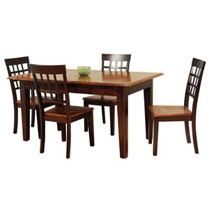 AAmerica Bristol Point 5 Pc. Accordion Table Set