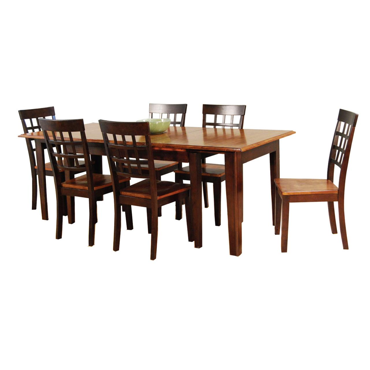 Etonnant AAmerica Bristol Point 7 Pc. Accordion Leg Table Set With Grid Back Chairs