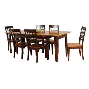 AAmerica Bristol Point 7 Pc. Accordion Table Set