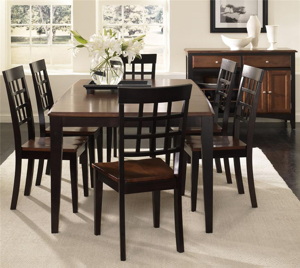AAmerica Bristol Point 7 Piece Dining Set - Item Number: BTL-OE-6-32-0+6x2-63-K