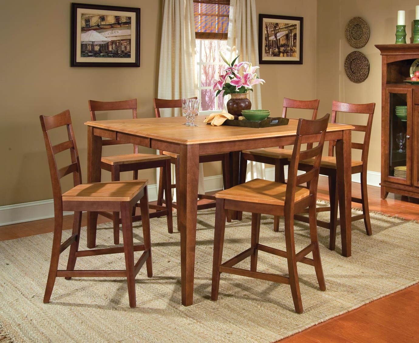 AAmerica Bristol Point 7 Piece Table Set - Item Number: HC-6-75-0+6x3-55