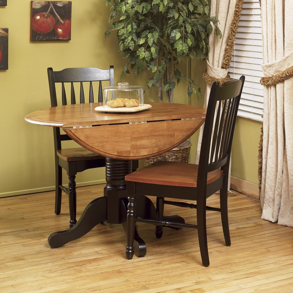 AAmerica British Isles Dropleaf Table and Chairs - Item Number: BRI-HE-6-10-0+2xBRI-HE-2-65