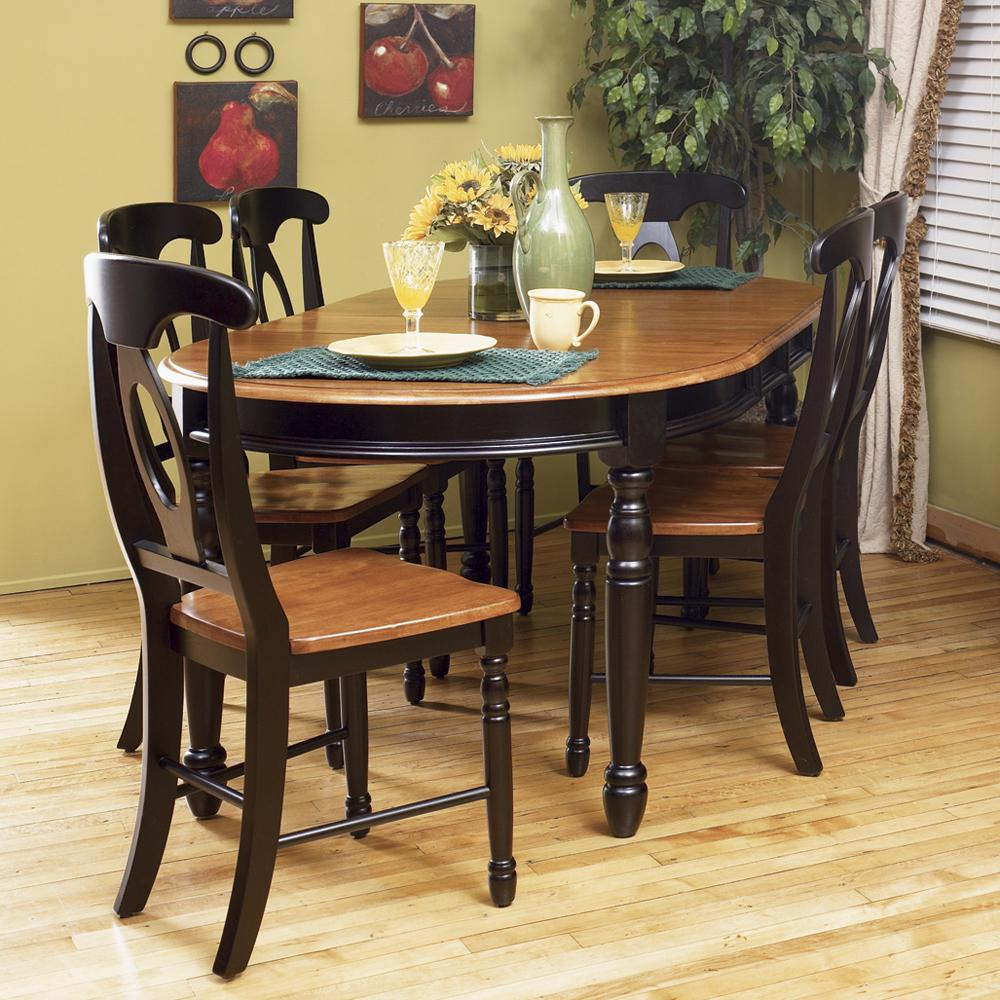 AAmerica British Isles Oval Leg Table with Chairs - Item Number: BRI-HE-6-31-0+6xBRI-HE-2-85K