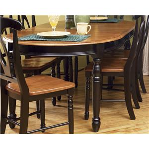 AAmerica British Isles Oval Leg Table