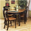 AAmerica British Isles Oval Leg Dining Table with Two Leaves - BRI-HE-6-31-0 - Oval Table Shown with Napoleon Side Chair