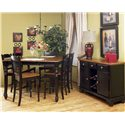 AAmerica British Isles Dining Storage Server Buffet with Wine Glass and Bottle Storage - BRI-HE-9-01-0