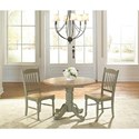 AAmerica British Isles Two-Tone Slatback Dining Side Chair