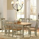AAmerica British Isles 7 Piece Dining Table and Chair Set - Item Number: BRI-NS-6-20-0+6xBRI-NS-2-85-K