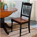 AAmerica British Isles Slatback Side Chair - Item Number: BRI-OB-2-67-K