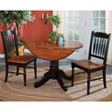 AAmerica British Isles 3 Piece Dining Set - Item Number: BRI-OB-6-10-0+2xBRI-OB-2-67-K