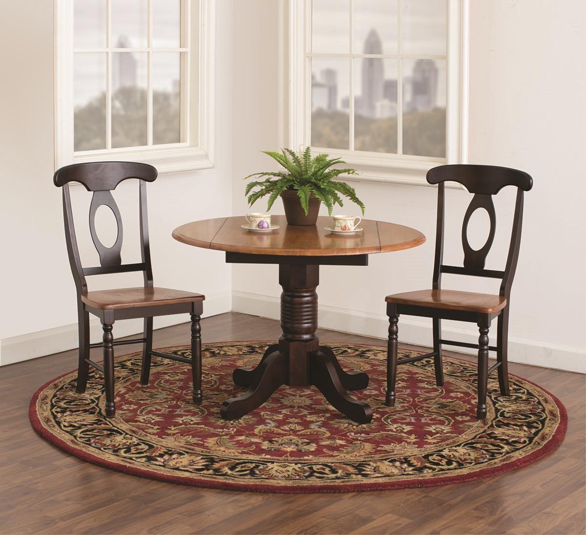 Solid Wood 3 Piece Drop Leaf Table Set